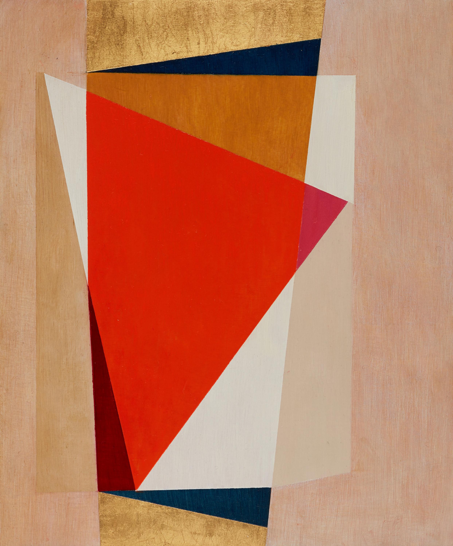Geometric Abstraction XXXVII, oil on panel 25x30 cms 2018
