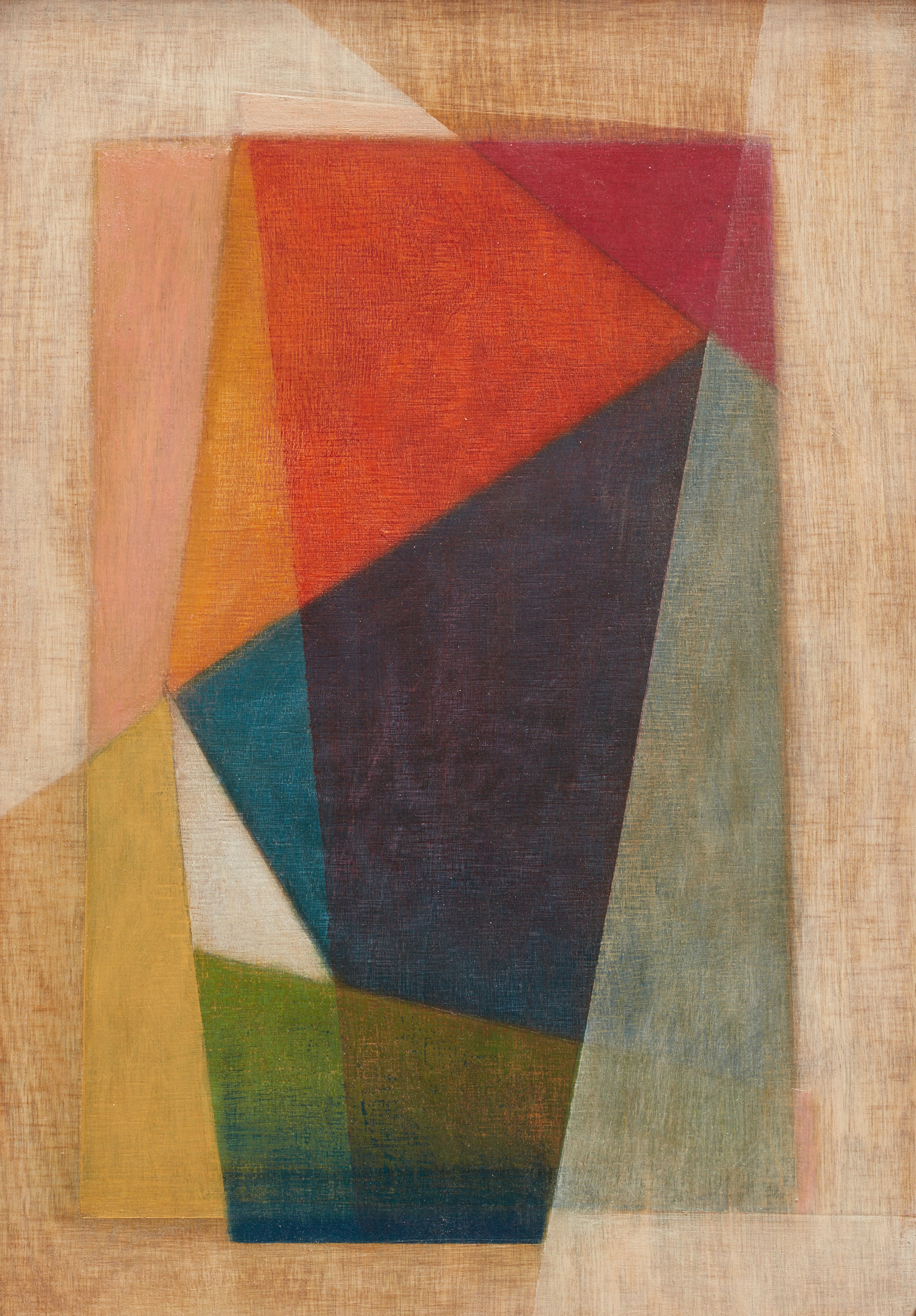 Small Geometric Abstraction III.25x30cms oil on ply 2106
