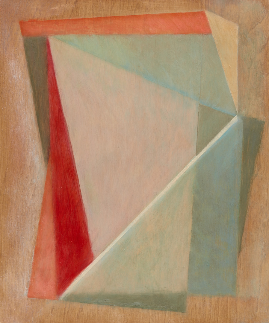 Geometric Abstraction VIII 25x30cms oil on panel 2016