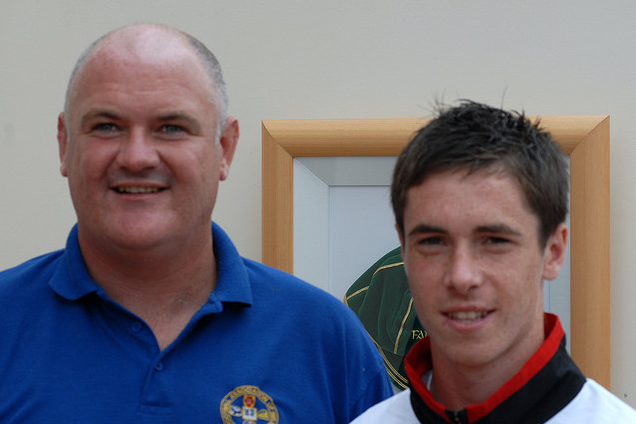Mikey Collins and his uncle David Collins
