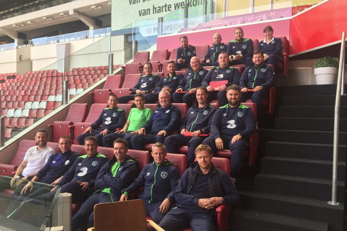 Damien Duff at PSV study visit