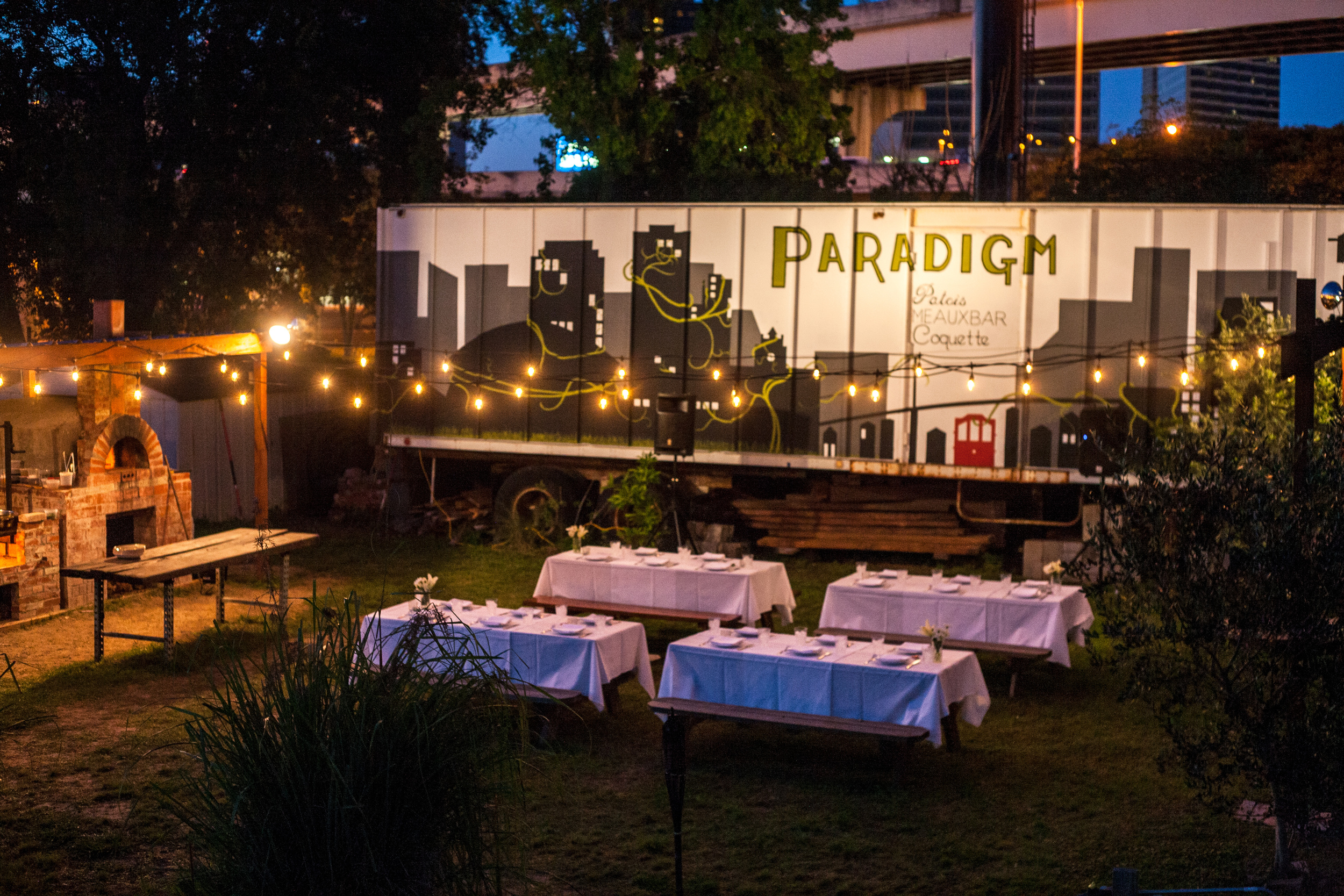 Paradigm Gardens private event venue space seated dinner