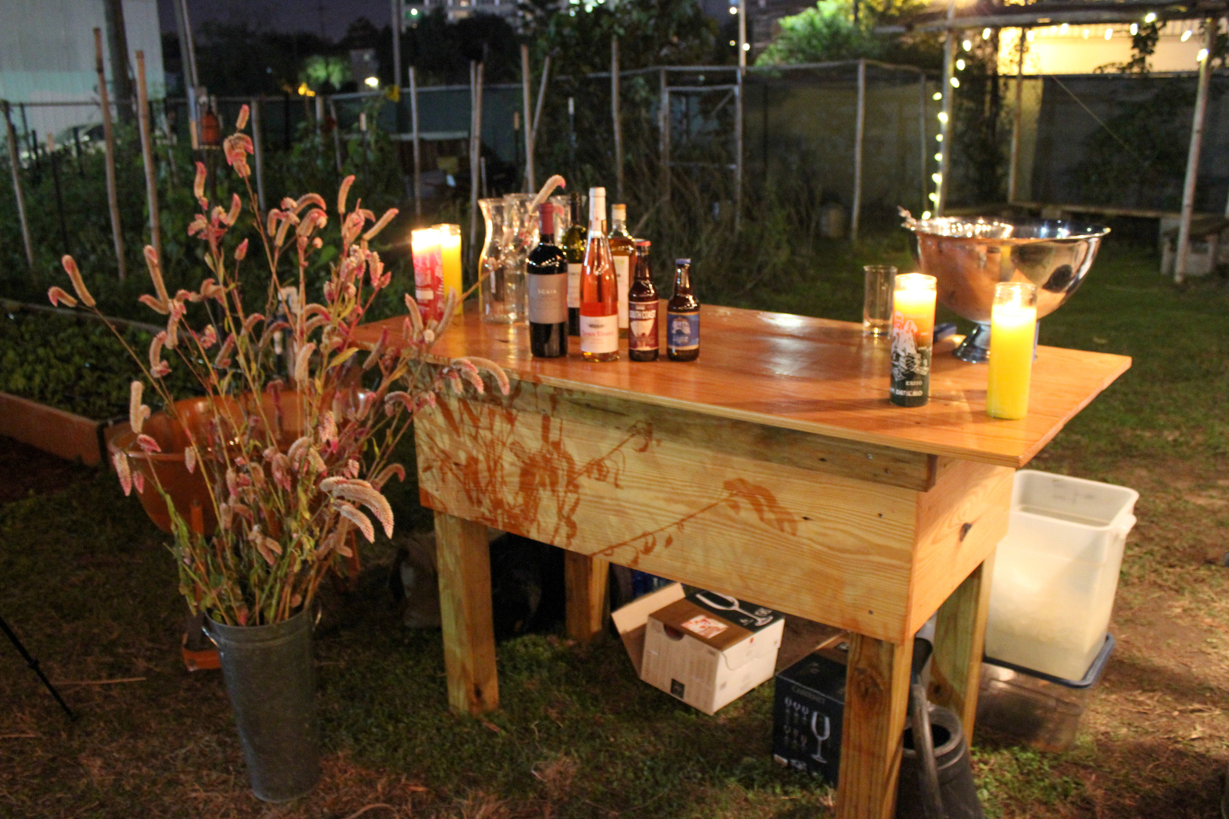 Paradigm Gardens New Orleans event rental venue space bar