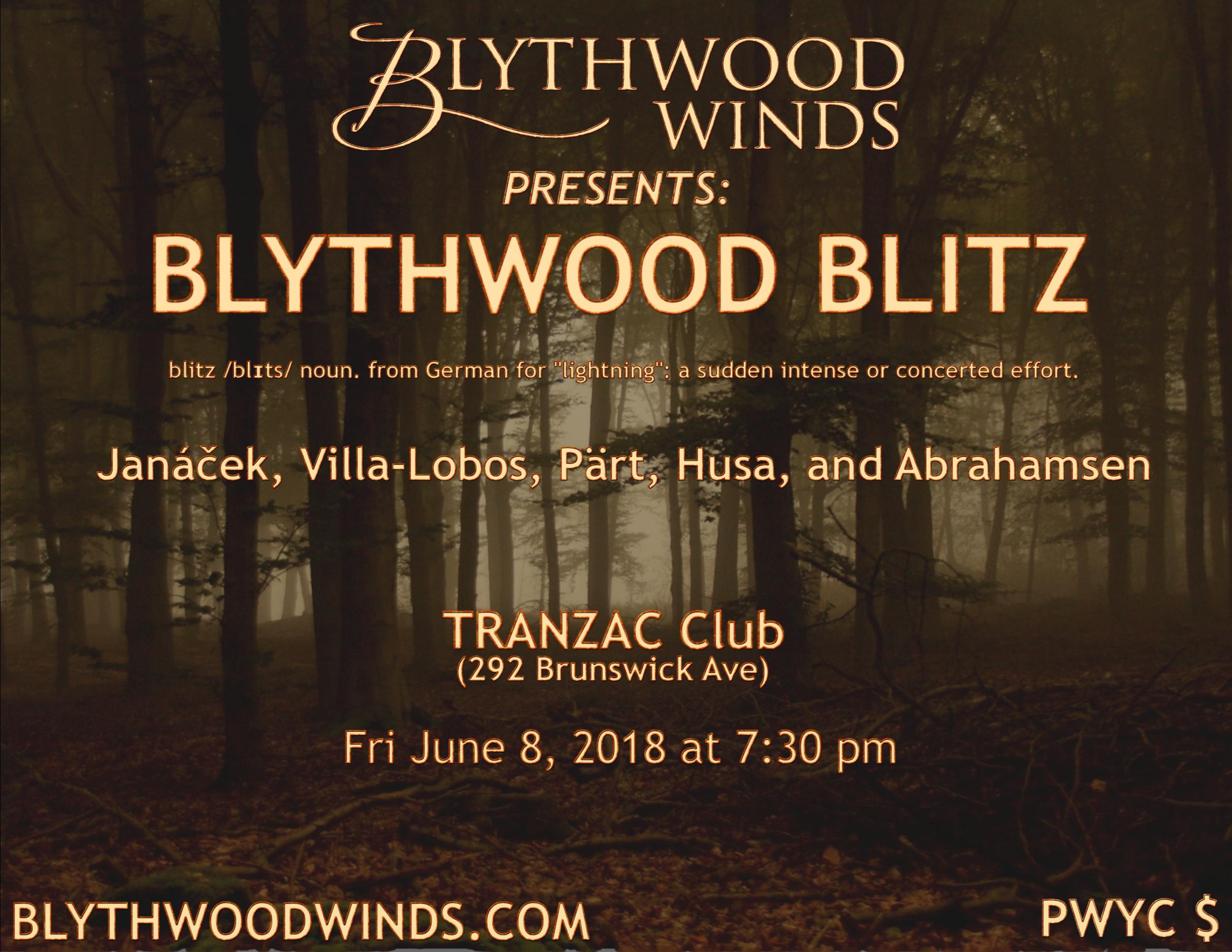 Blythwood Blitz Poster