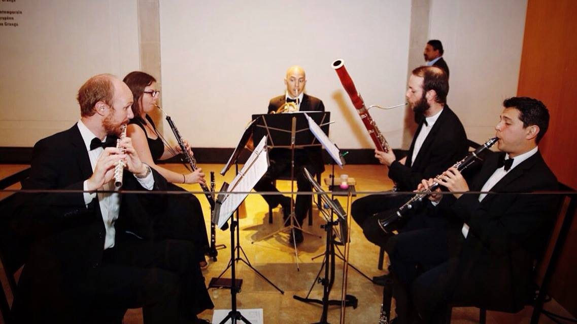 Blythwood Winds perform for the Premier's Awards in 2016.
