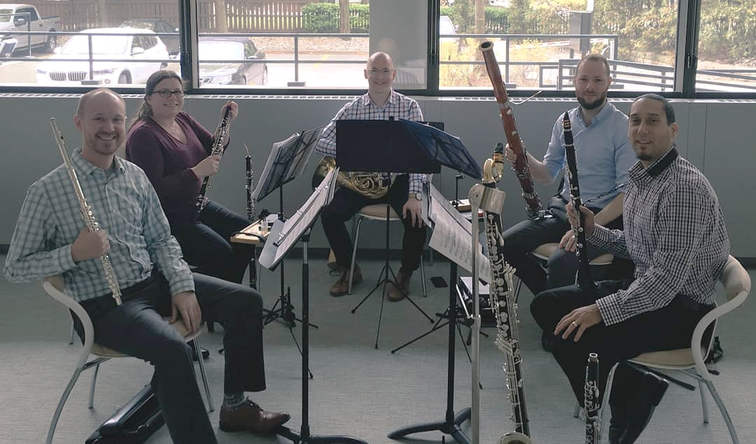 Blythwood Winds perform a private Pocket Concert at a downtown Toronto condo, 2018.