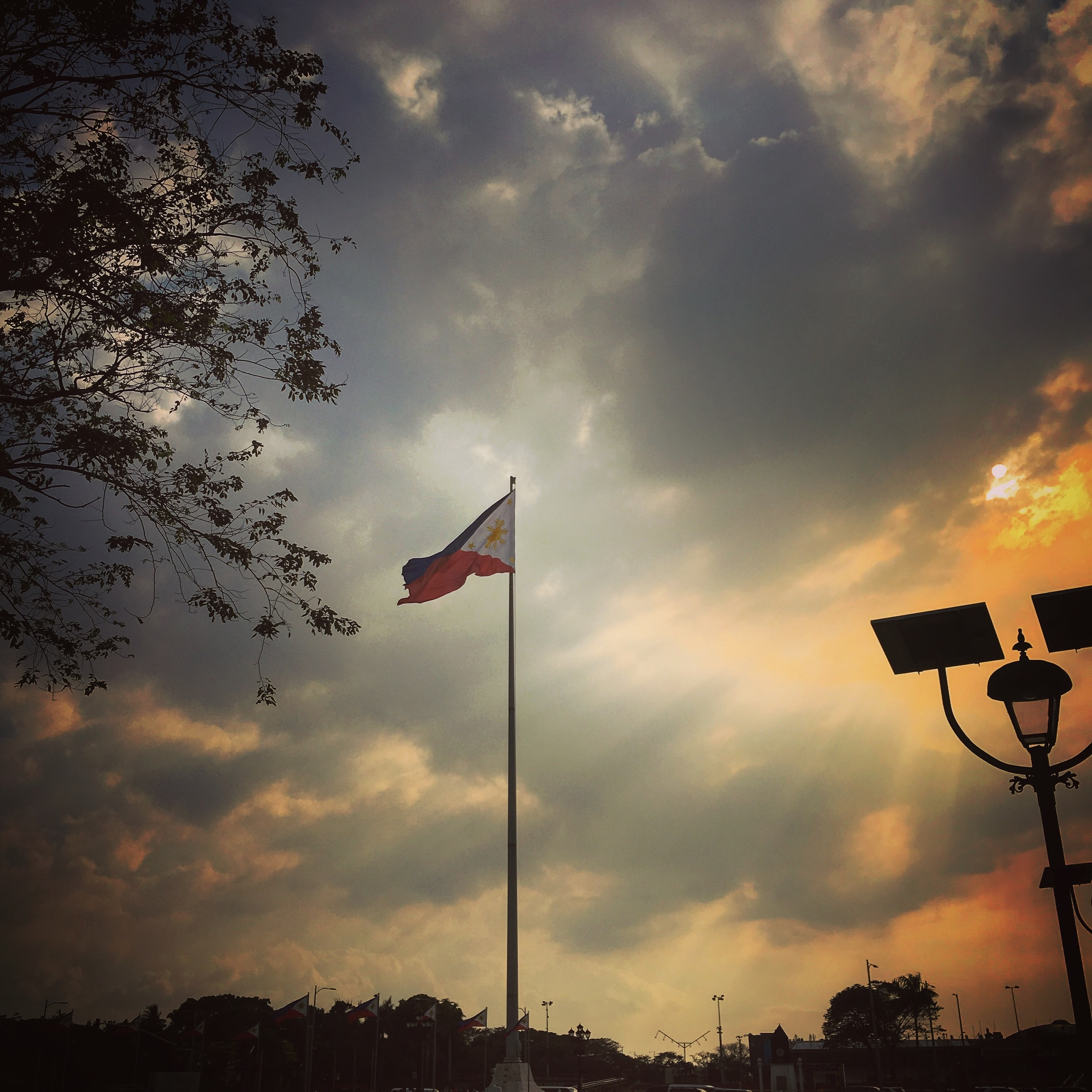 Philippines flag in Rizal park