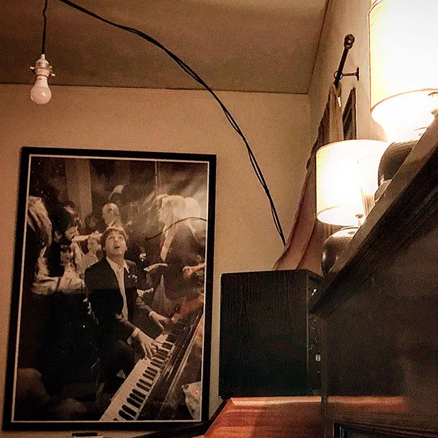 Just love this poster of #paulmccartney in this seriously dope Airbnb. #weho