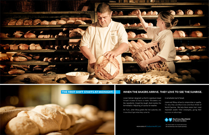 We also created a print ad featuring each company.