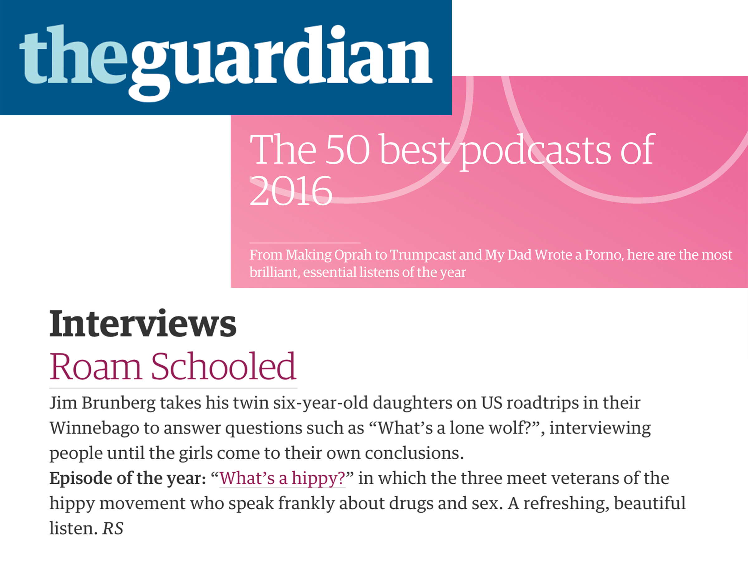 The Guardian - The 50 best Podcasts of 2016