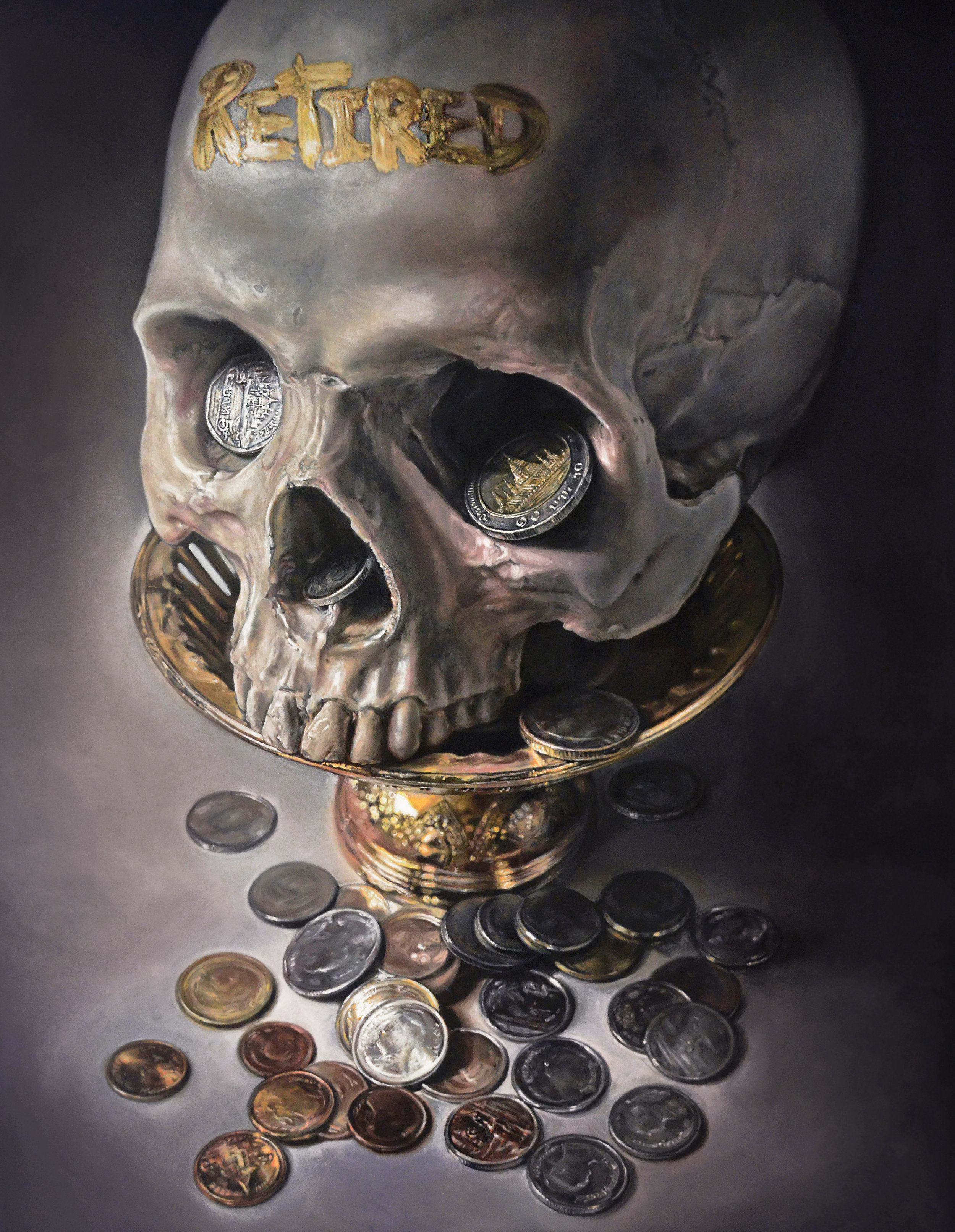 Title: Price of Eternity  Year: 2018  Size: 180x130 cm  Technique: Oil on canvas