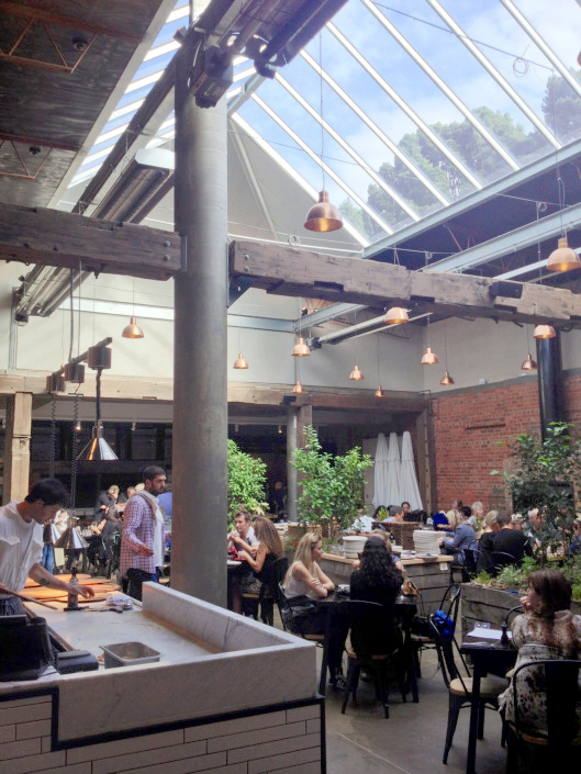 The atrium in The Shed at The Epicurean Red Hill