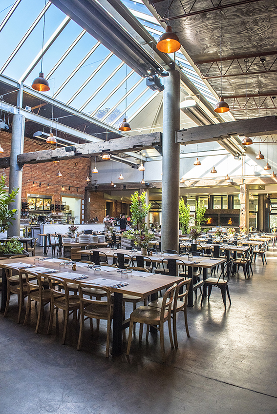 The Shed at The Epicurean Red Hill features a spectacular atrium framed by large historic timber columns from the old Woolloomooloo wharf. It is the perfect space for your wedding or private function.