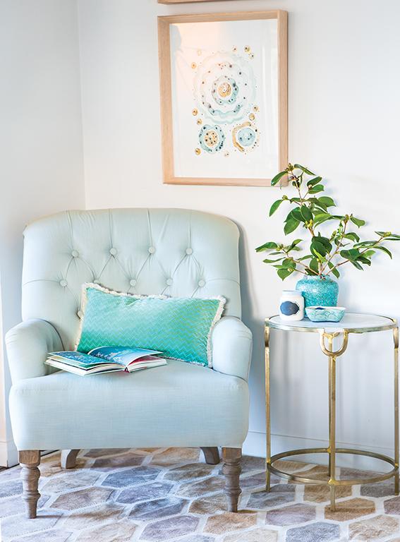 Relaxing corner at Merricks House