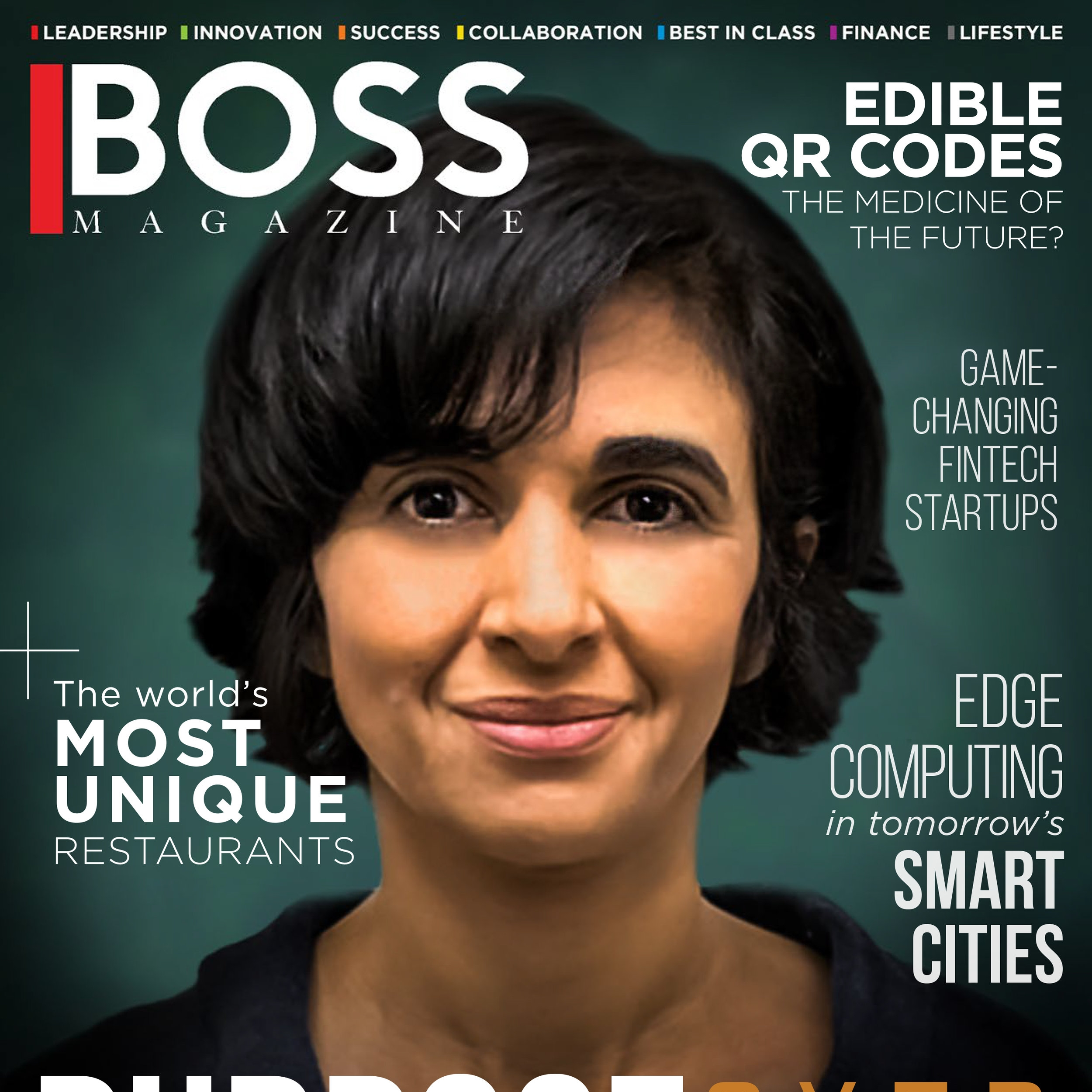"BOSS Magazine APR 2018   Our CEO, Diana Yousef, is BOSS Magazine's cover story   Diana Yousef is profiled as the incredible entrepreneur behind change:WATER Labs' humanitarian mission and her ""journey to translate science into social impact."""