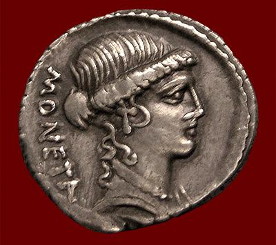 The goddess Juno Moneta
