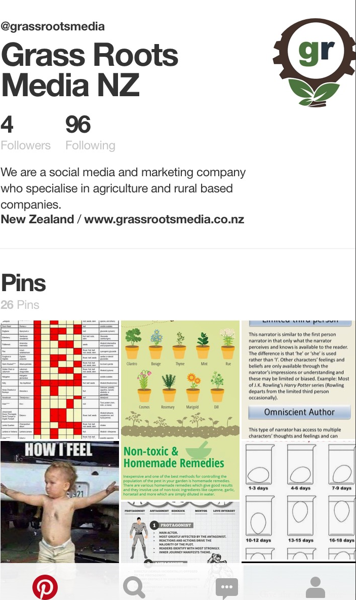 Check out the  Grass Roots Media NZ Pinterest account , we're new to it too so let's explore together!