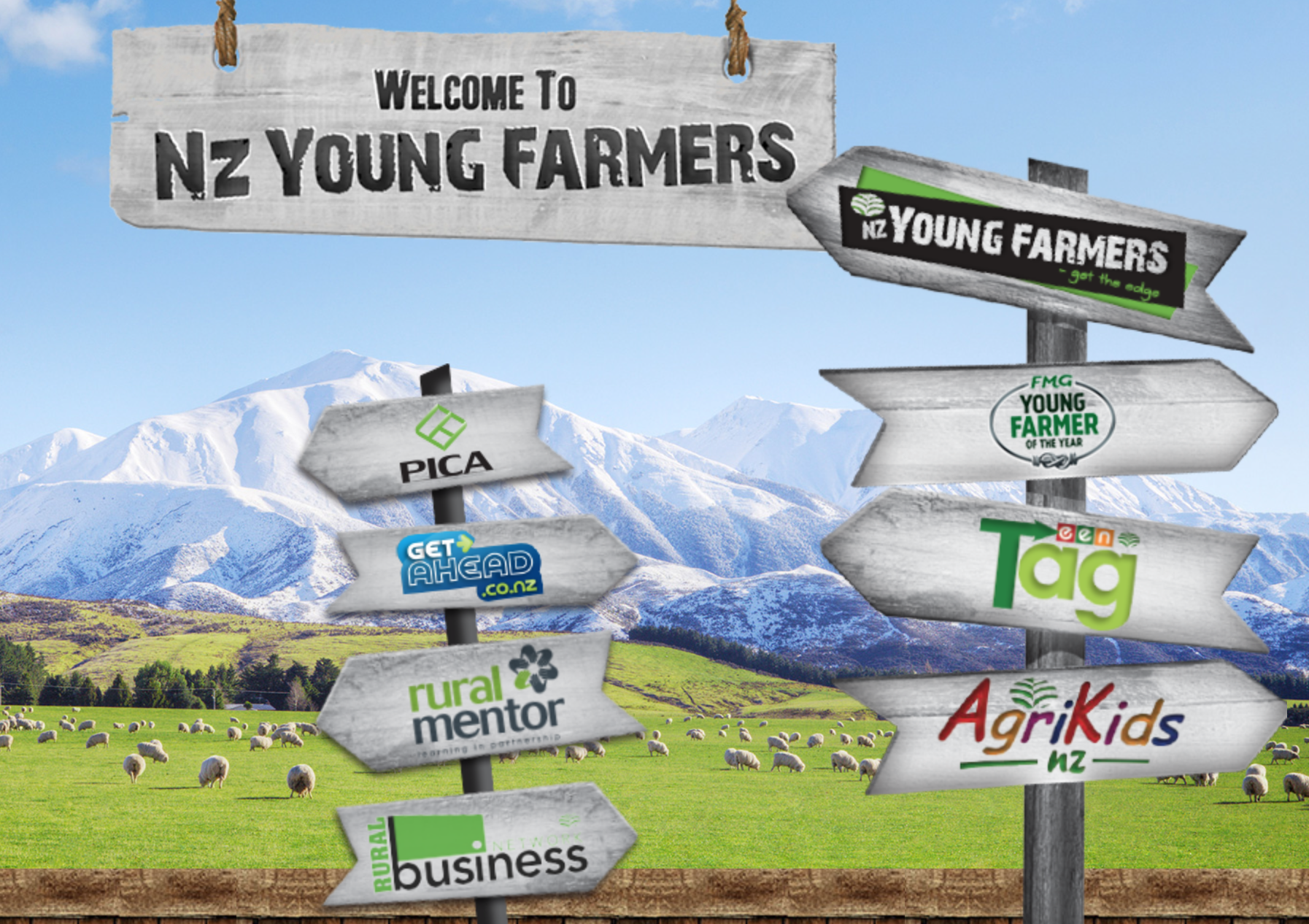 Young Farmers - Pop by the NZ Young Farmers site to find out about careers and the future of food, and how to become a part of this exciting industry.Catch any of the following:The Amazing Race activity,Tug of War,Gate hanging Competition,Agrikids Colouring Competition,Careers infoFind them: On the corner of N Road and E Road next to Careers and Education Hub