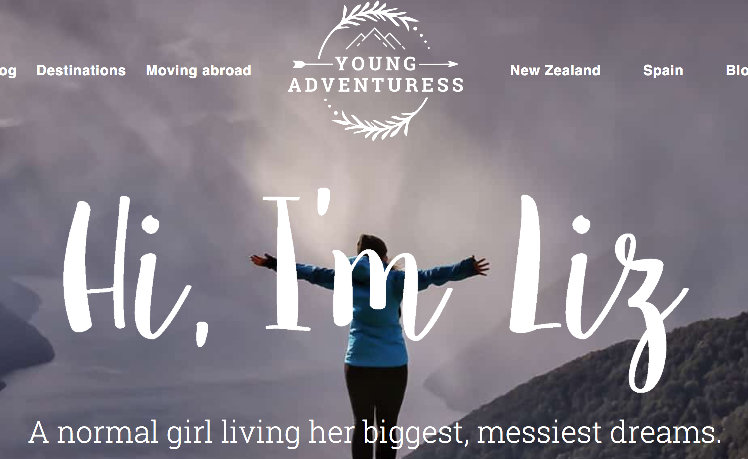 5. Young Adventuress - Liz is an American, living in New Zealand, travelling the world and blogging to tell about it. Her photos are beautiful, her stories are hilarious, and she has some serious opinions about social media and tips about building an online presence. She comes with a warning - be prepared to sit on her social media pages and be distracted for hours. Have fun!