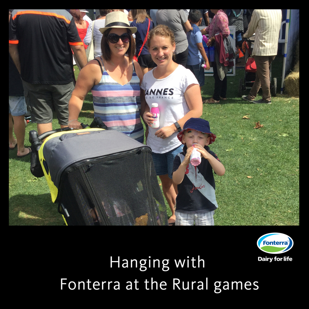 Our Community Manager Anna engaging with Fonterra at Manawatu Rural Games