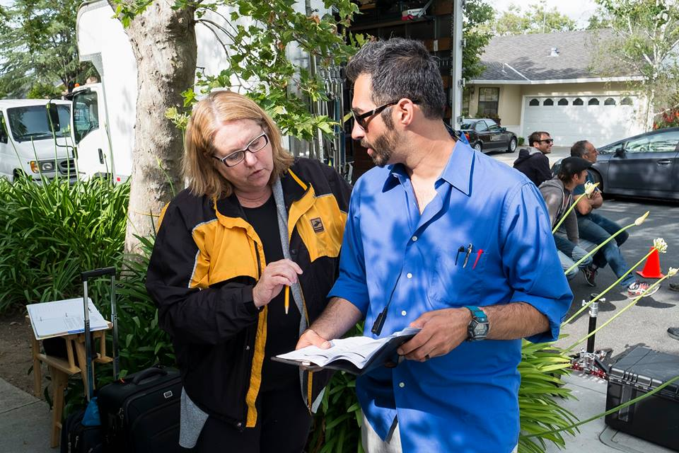 Terri Smith (Script Supervisor) and Armin Houshmandi (AD)