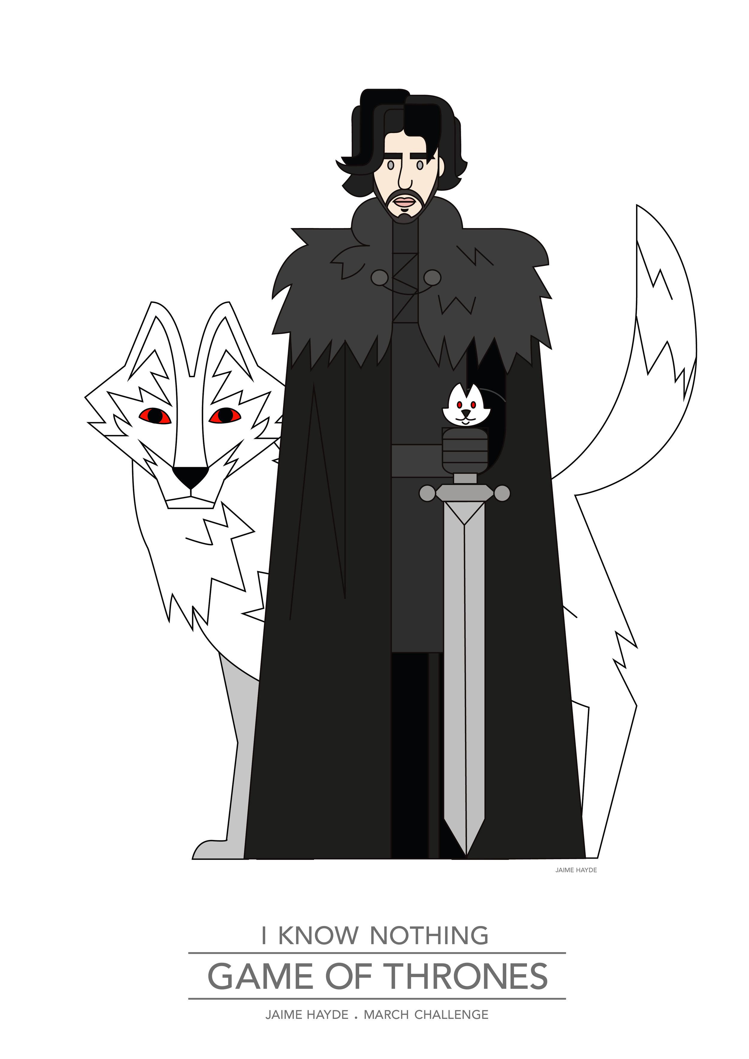 Game-of-thrones-Juego-de-tronos-Jon Snow-illustration-poster.jpg
