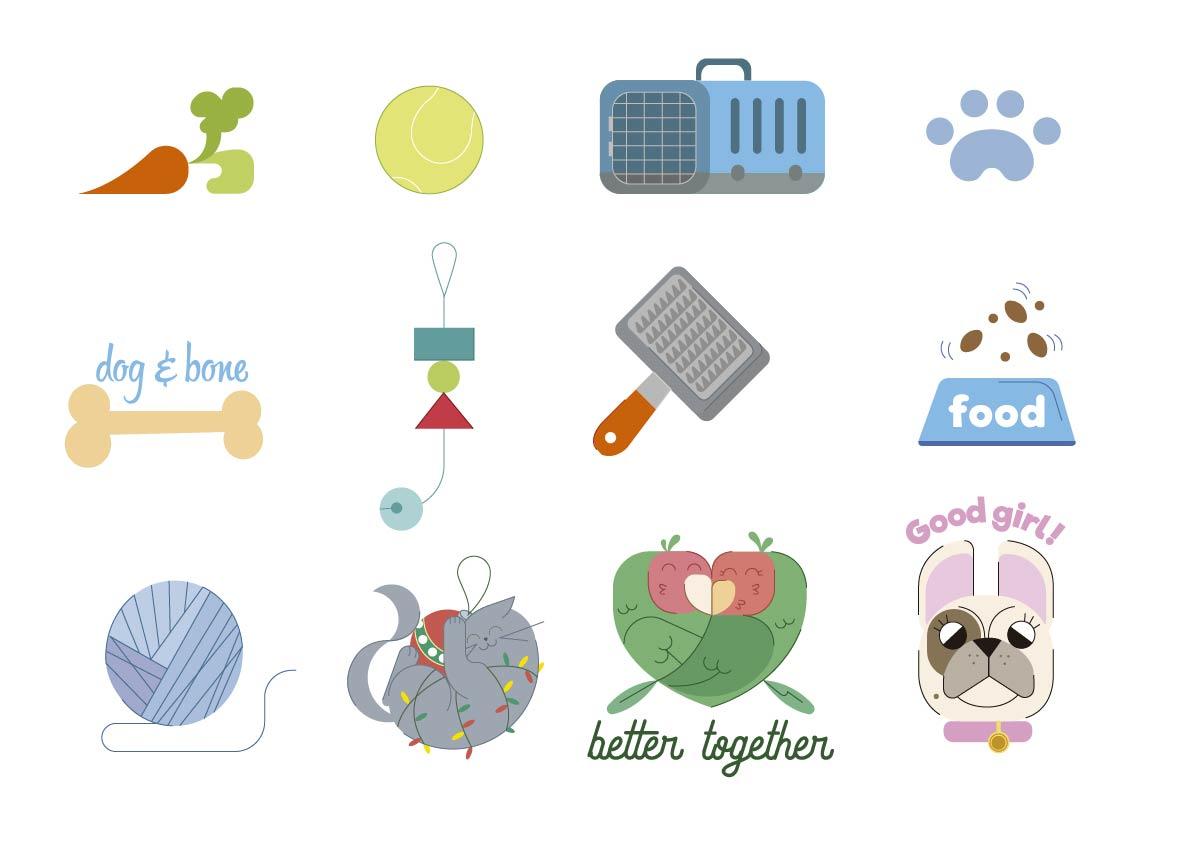 sticker, jaime hayde, lovebird, cat, dog, pet.jpg