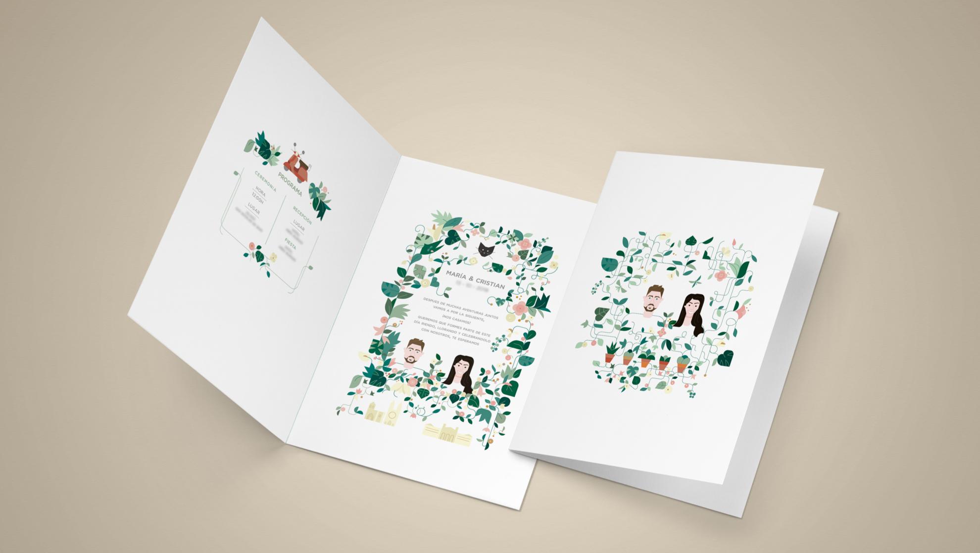 invite,wedding , boda, color, vector, plants, design .png