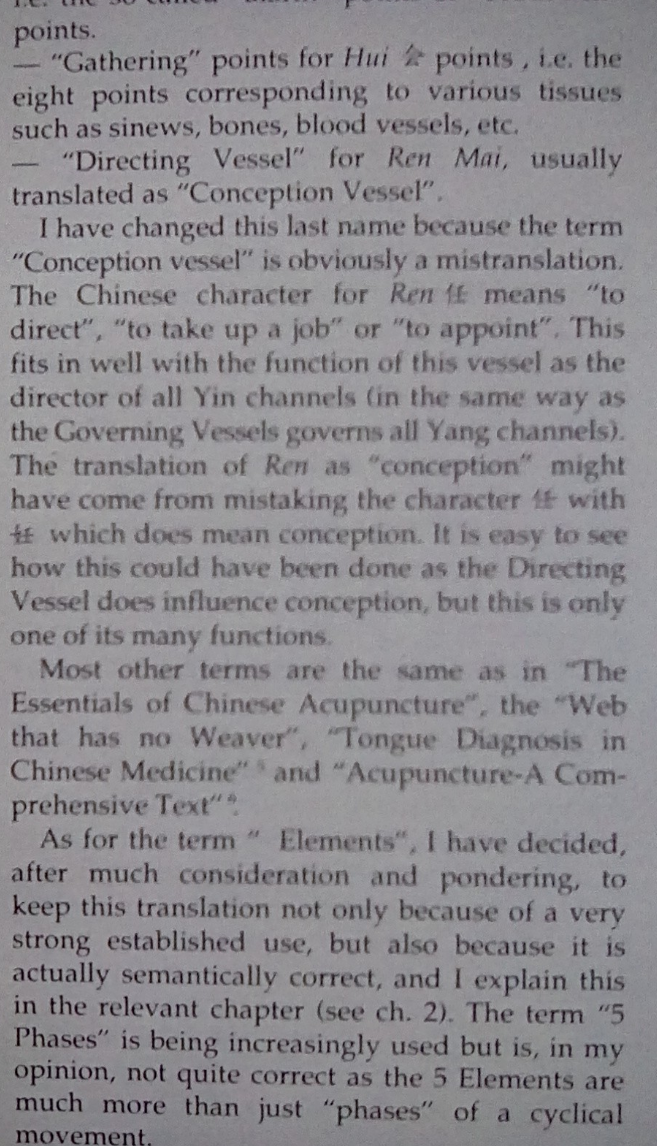 The 'Conception Vessel' is a complete mistranslation. Rather, it should be the Yolk Sac Channel (see Spark)