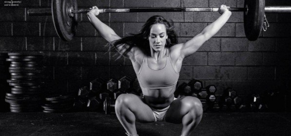 Here's a picture of Camille Overhead squatting....... Just because its Friday.