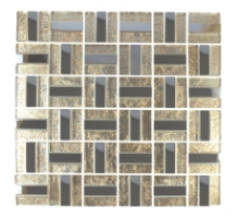 Tile Africa Gold Lazer                  Stainless Steel Foil Mozaic