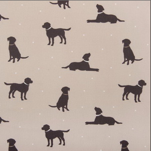 Pale Pink and Grey Puppy Fabric for a Nursery