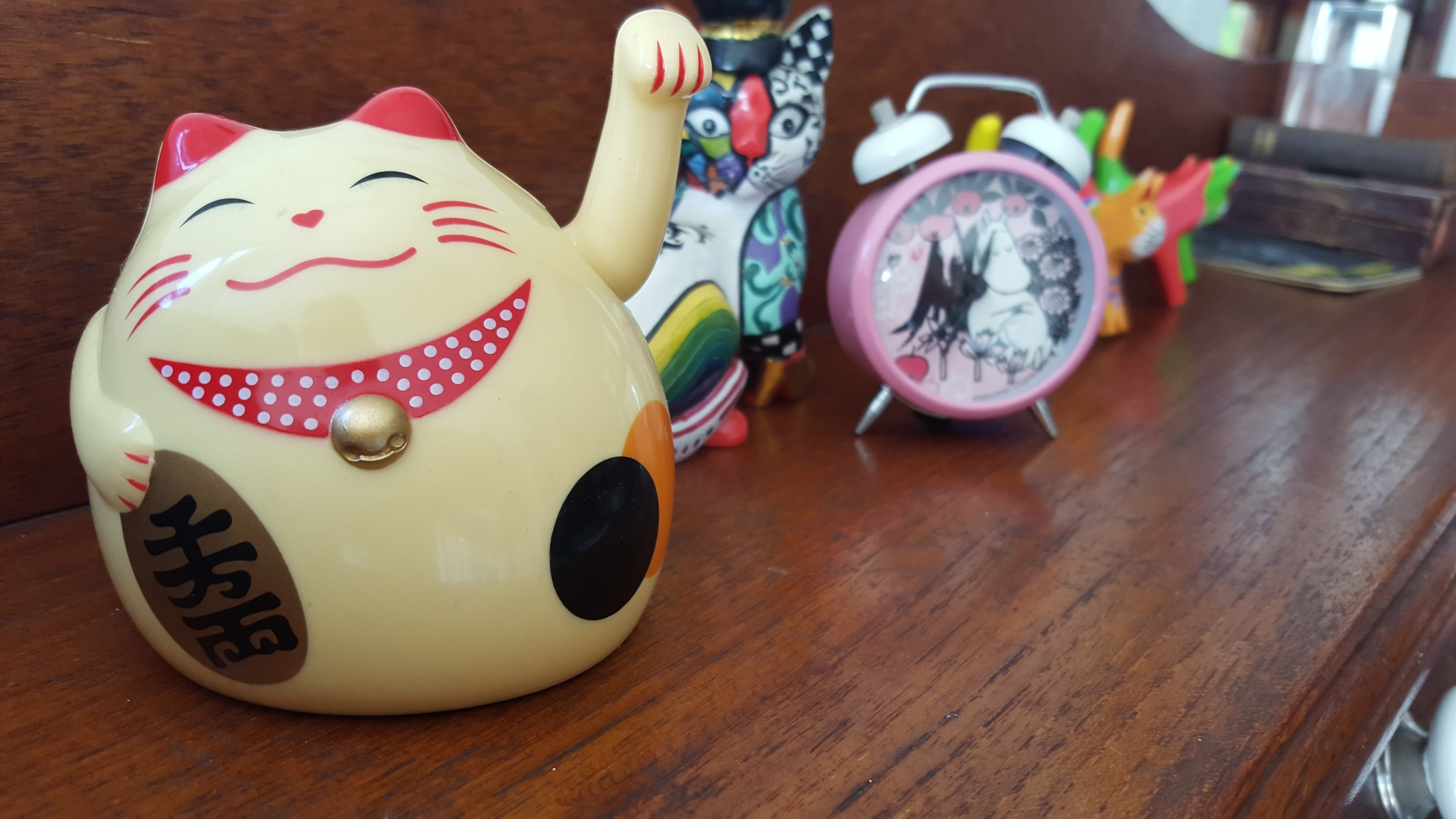 My collection of kitsch cats - each a treasured gift