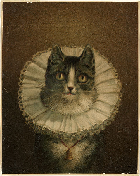 The famously kitsch  The Widow by Frederick Dielman, now in the Boston Public Library