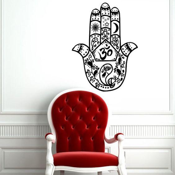Hamsa hand red chair