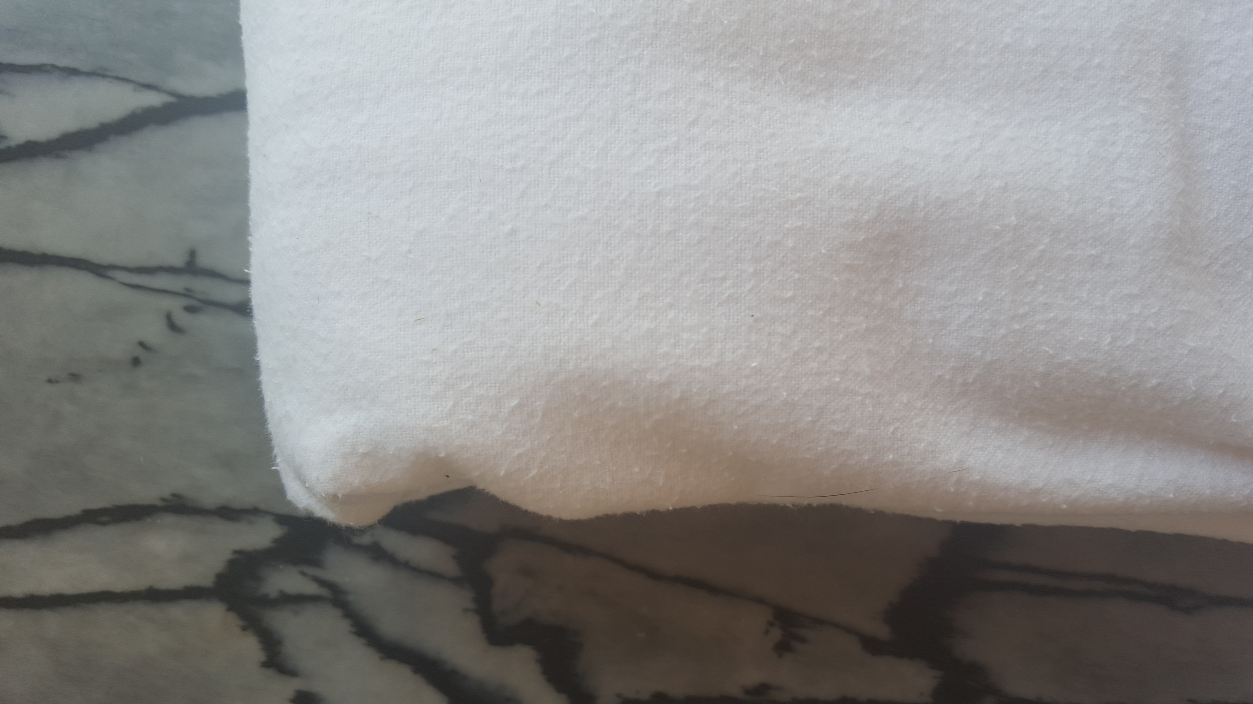 Here's an image of a 100% Brushed Cotton Flannel. The brushing adds fluff and therefore s