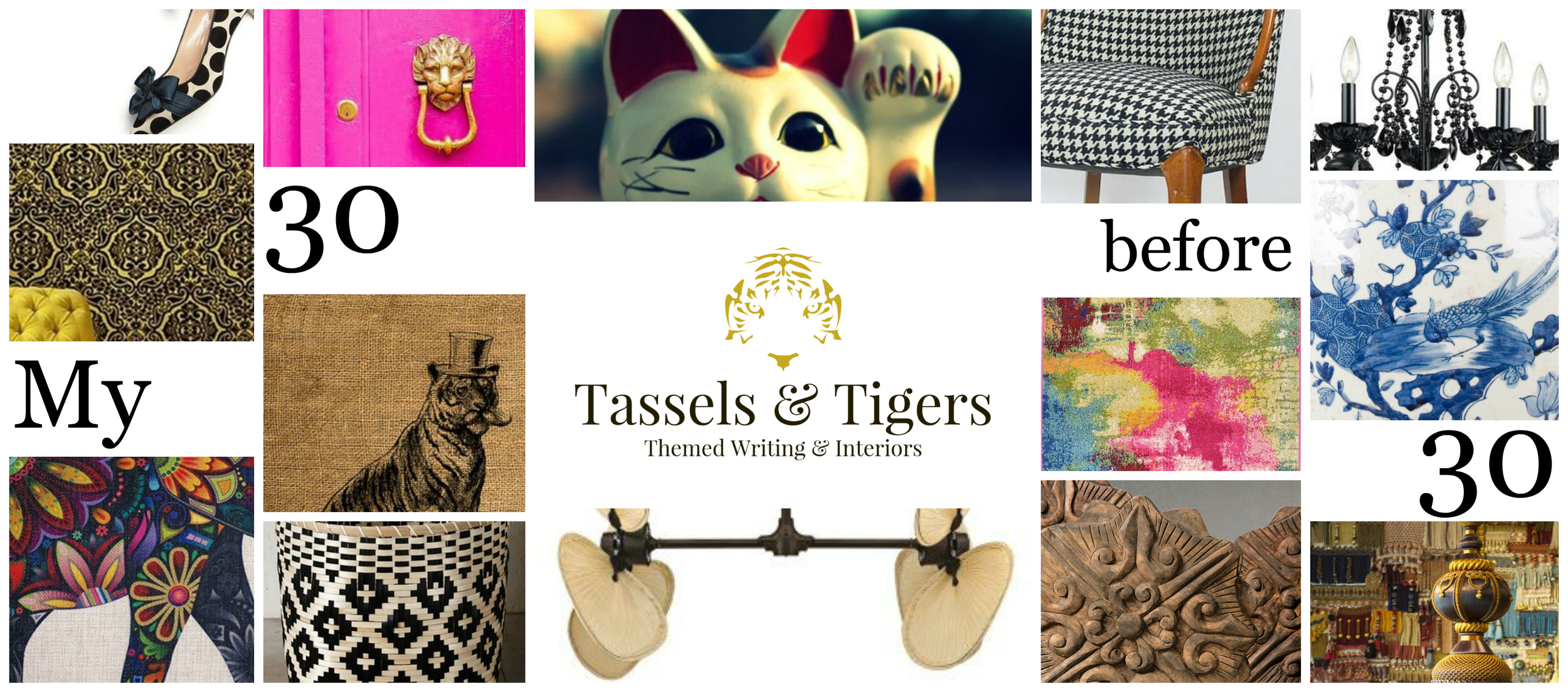 The 30 favourite decor items on my interior design list before my birthday. Tassels and Tigers