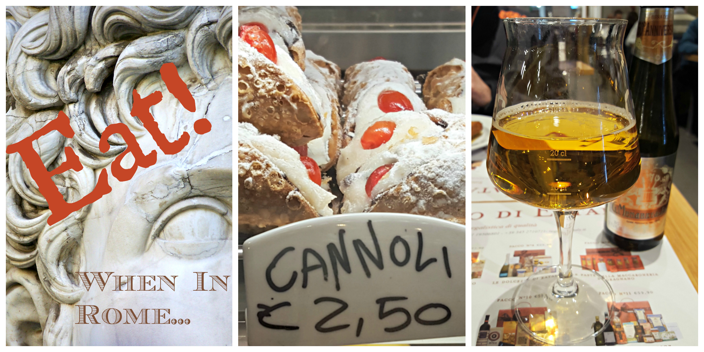 Discover Roman and Italian Food such as Canolli