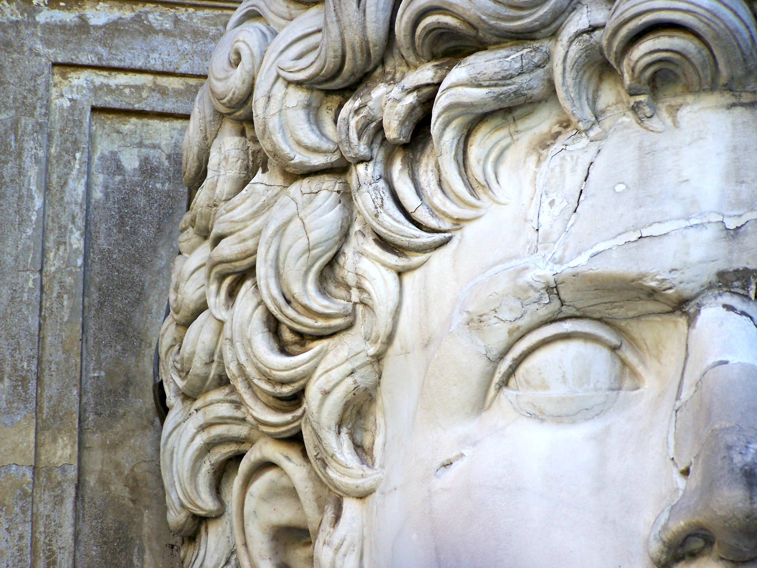Head of Caesar Augustus in the Vatican Museums courtyard.jpg