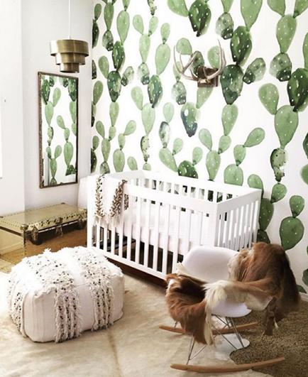 cactus wallpaper in babyroom botanicals.jpg