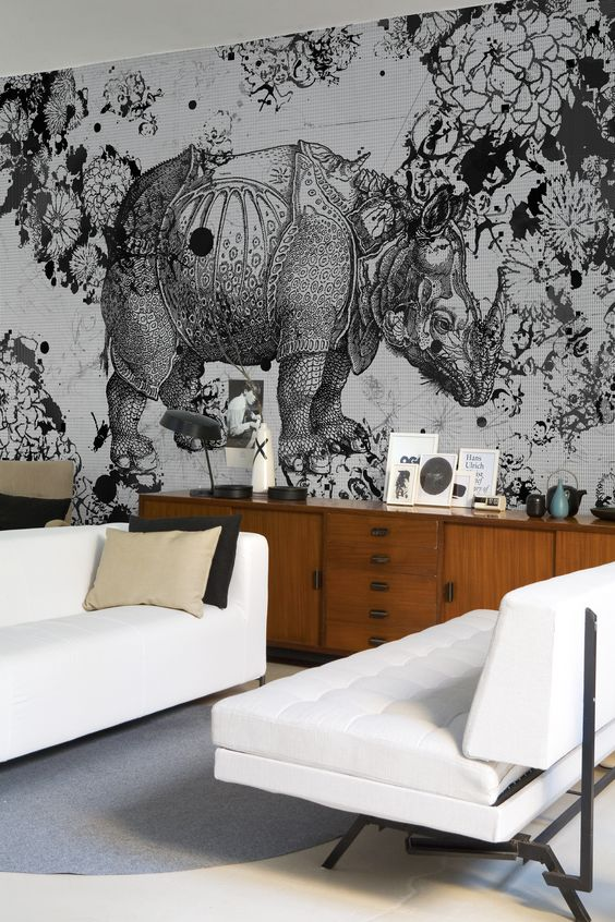 rhino and floral black and white wallpaper.jpg