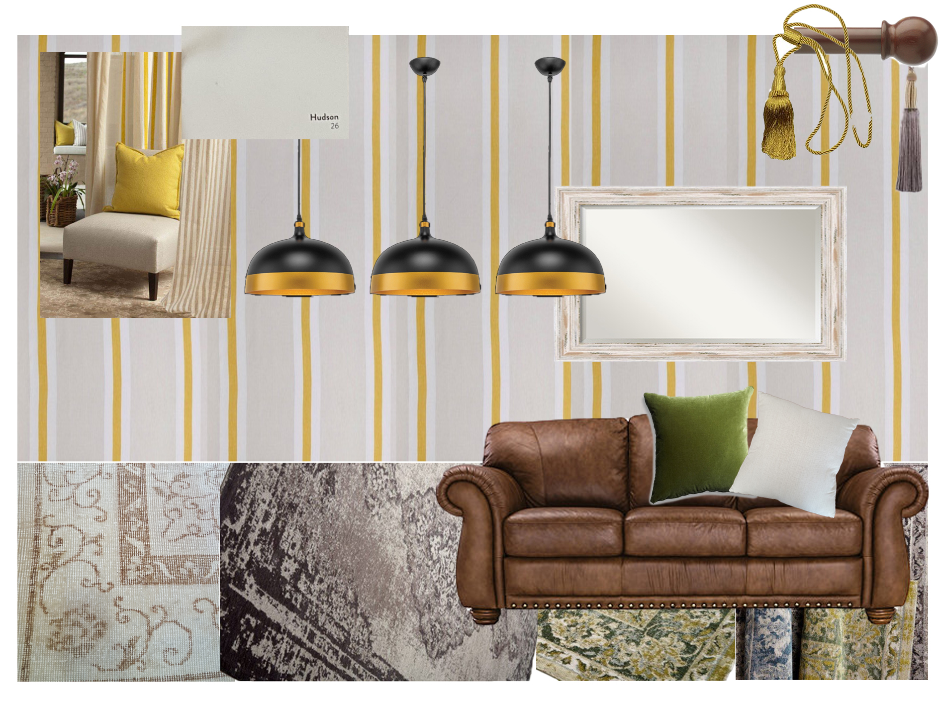 Susan Bright Sunny Dining Room_black and gold pendants (1).jpg