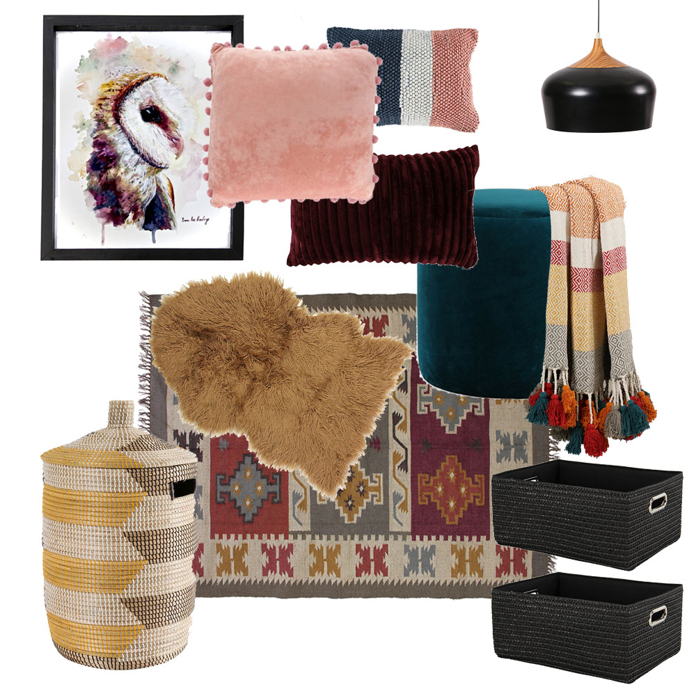 Modern Animal and American Indian Inspired Nursery or Baby Room Decor by Tassels & Tigers Interiors