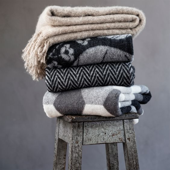 Wool and Mohair Blankets have lots of rough texture for warmth