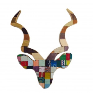 Proudly South African recycled wood kudu head by Block Art