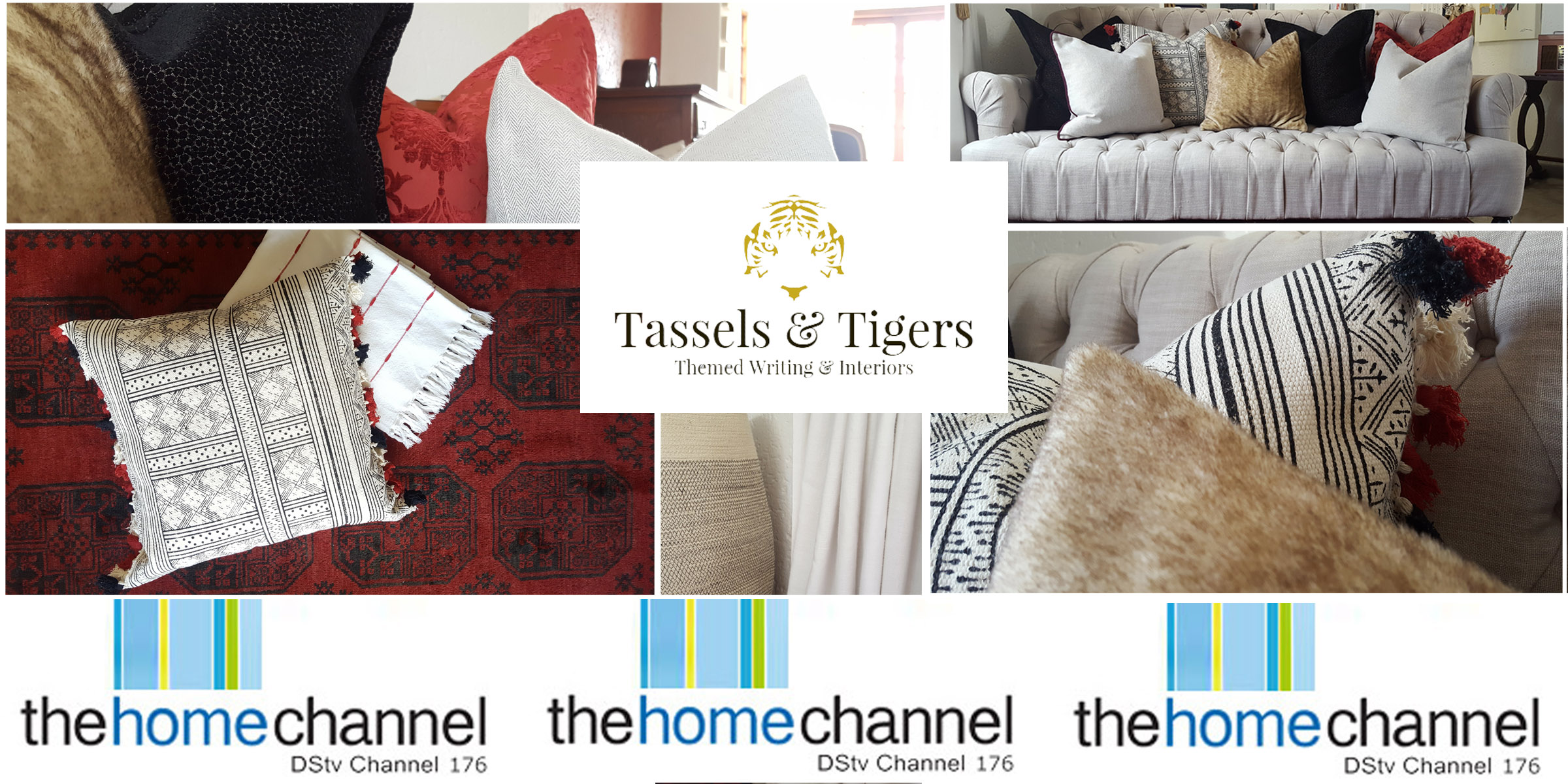 Tassels & Tigers Interior Design and Decor Lounge as seen on the Home Channel