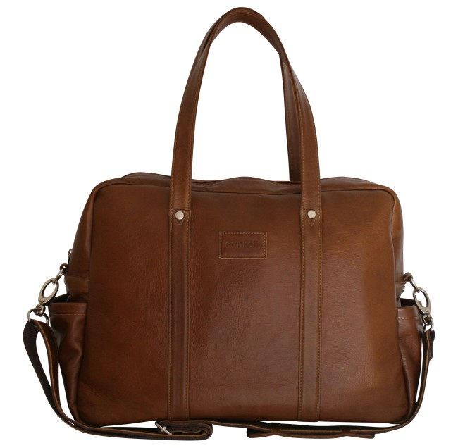 JeanKelly Classic Toffee Leather Bag Nappy Baby Bag Buy Online SA