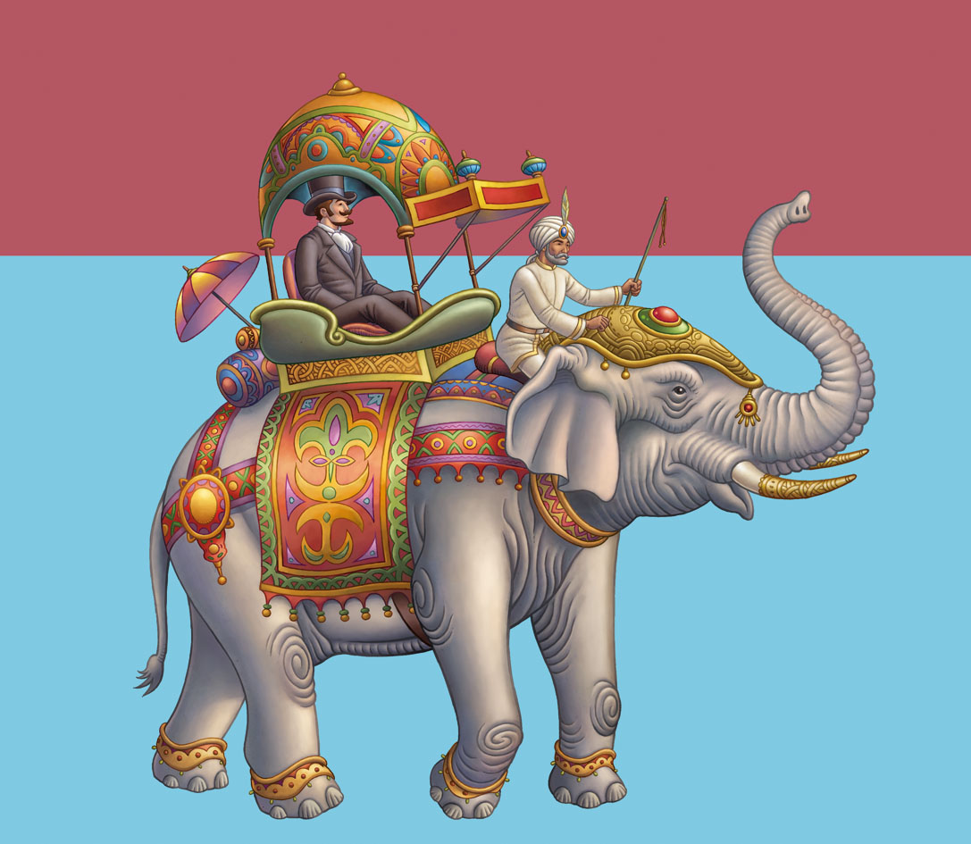 Travel by elephant in Around The World in 80 Days