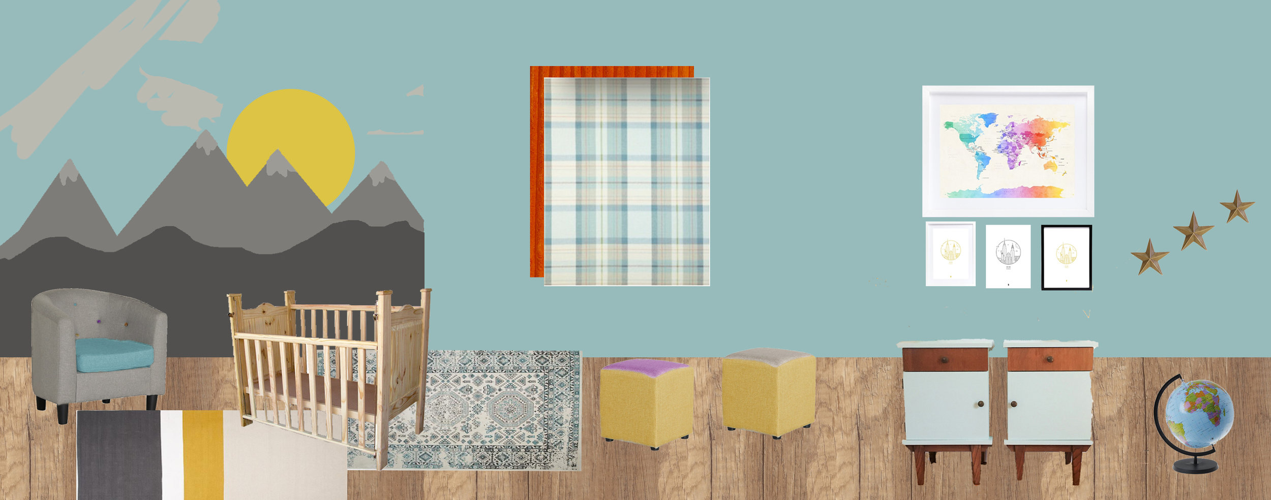 Draft themed baby room nursery design by Tassels & Tigers Themed Interior Design & Decor in Johannesburg, South Africa