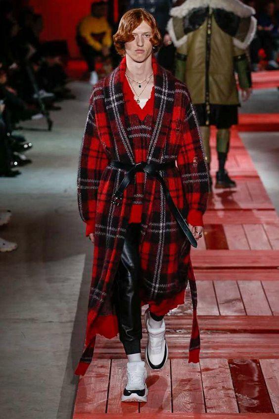Alexander McQueen Plaid Spring Collection 2018